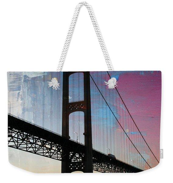 Mackinac Bridge Weekender Tote Bag