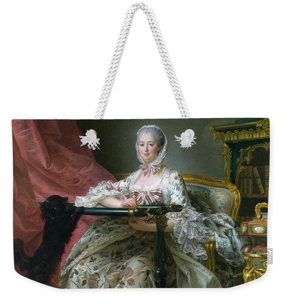 Madame De Pompadour, 1763-64 Oil On Canvas Weekender Tote Bag