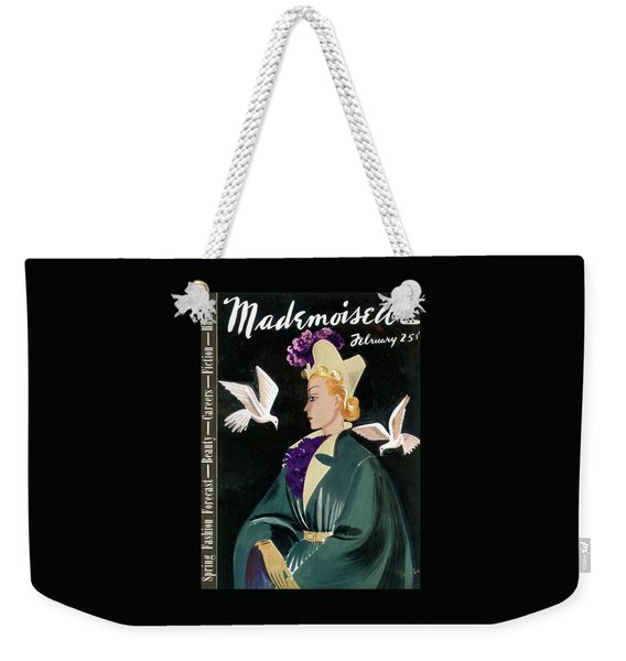 Mademoiselle Cover Featuring A Model In A Green Weekender Tote Bag