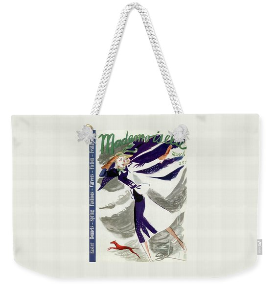 Mademoiselle Cover Featuring A Model With A Dog Weekender Tote Bag