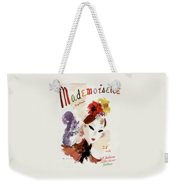 Mademoiselle Cover Featuring A Woman Weekender Tote Bag