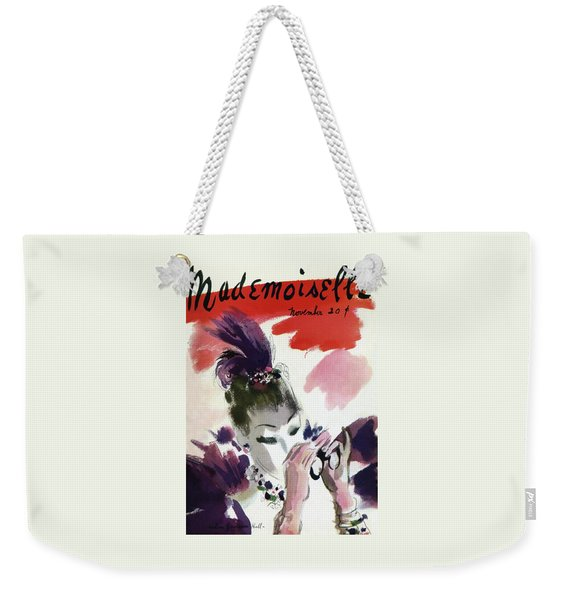 Mademoiselle Cover Featuring A Woman Looking Weekender Tote Bag