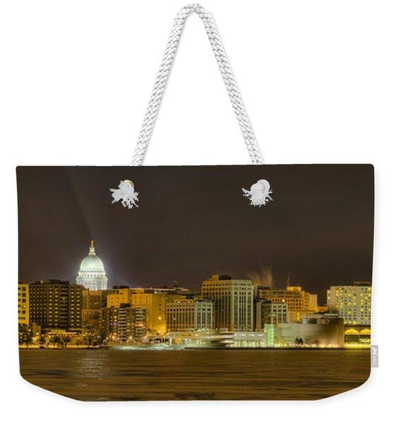 Madison - Wisconsin City  Panorama - No Fireworks Weekender Tote Bag