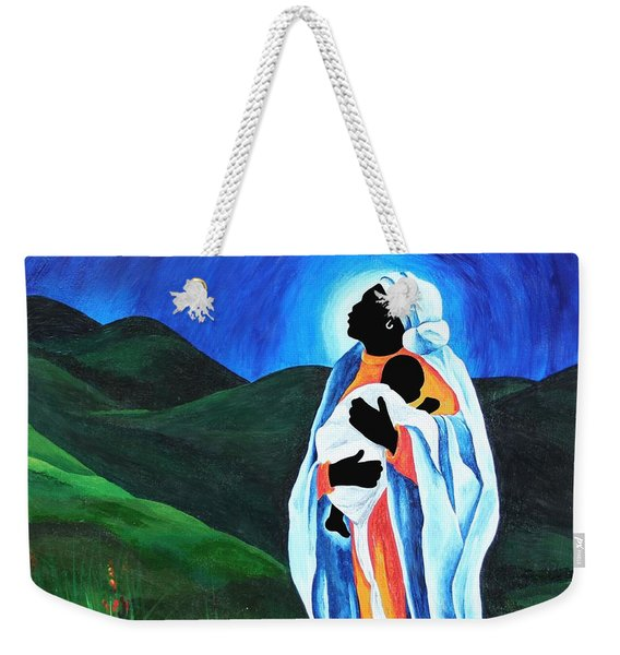 Madonna And Child  Hope For The World Weekender Tote Bag