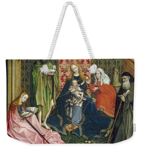 Madonna And Child With Saints In The Enclosed Garden Weekender Tote Bag