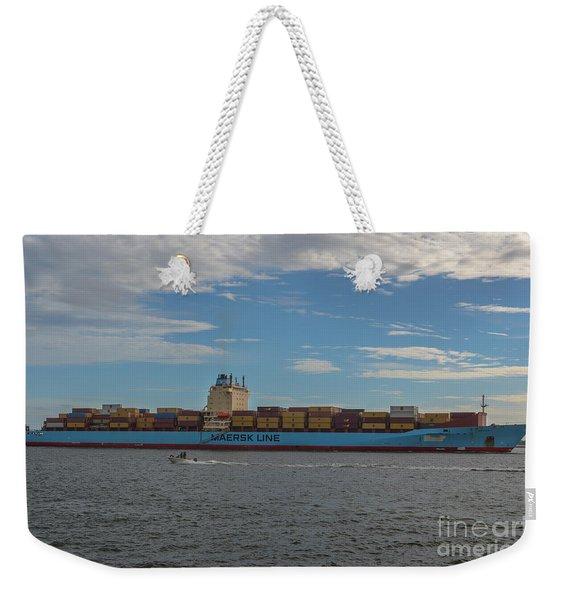 Ocean Going Freighter Weekender Tote Bag