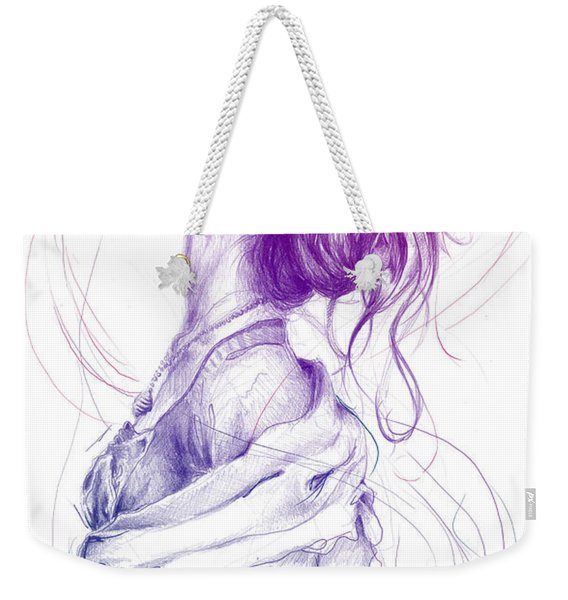 Purple Fashion Illustration Weekender Tote Bag