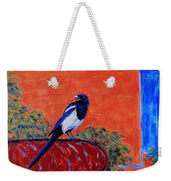 Magpie Singing At The Bath Weekender Tote Bag