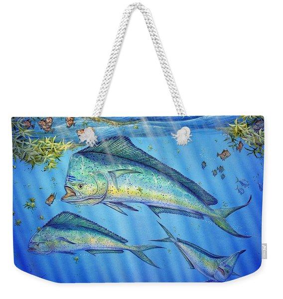 Mahi Mahi In Sargassum Weekender Tote Bag