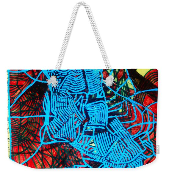 Maiden In Blue - Mary In The Temple Weekender Tote Bag