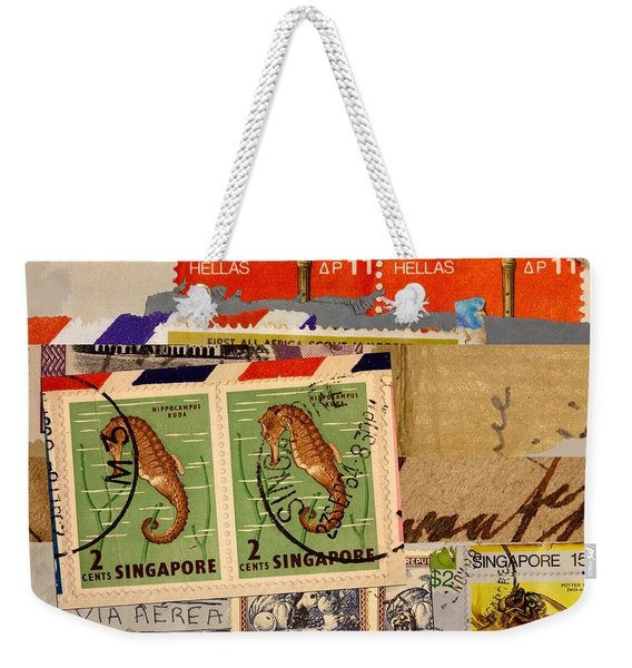 Mail Collage Singapore Seahorse Weekender Tote Bag