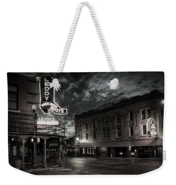 Main And Exchange Bw Weekender Tote Bag