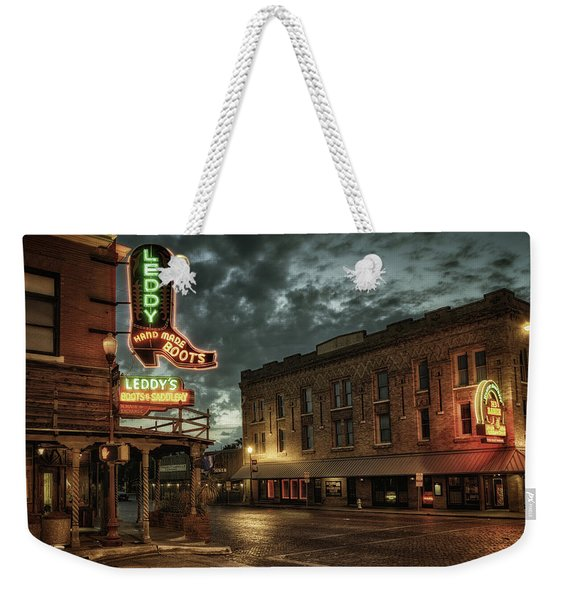 Main And Exchange Weekender Tote Bag