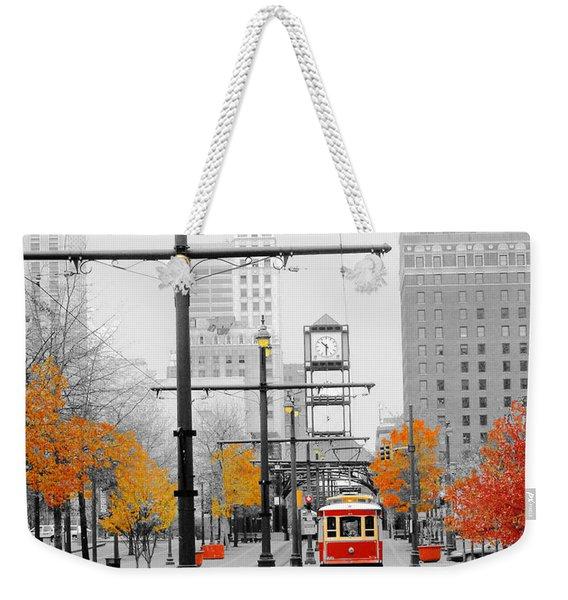 Main Street Trolley  Weekender Tote Bag