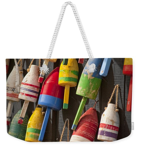 Maine Fishing Buoys Weekender Tote Bag