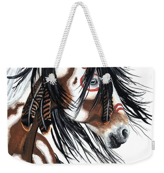 Majestic Pinto Horse Weekender Tote Bag