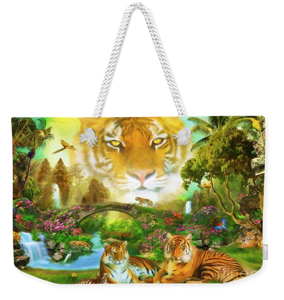 Majestic Tiger Grotto Weekender Tote Bag
