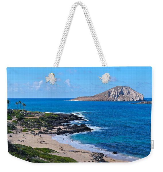 Makapuu Beach With Rabbit Island Weekender Tote Bag