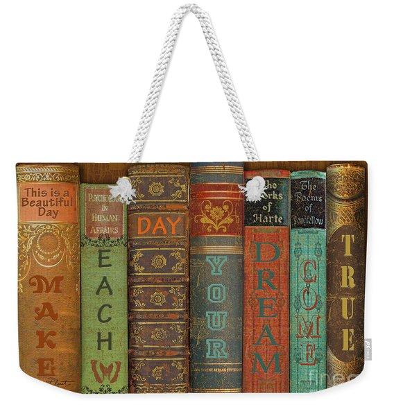 Make Each Day-books Weekender Tote Bag
