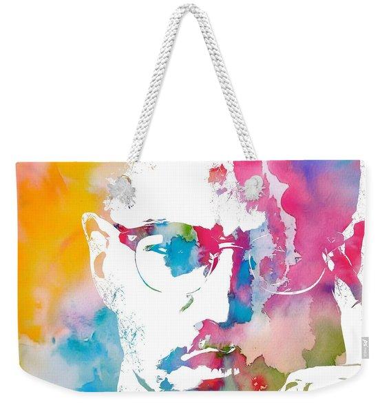 Malcolm X Watercolor Weekender Tote Bag