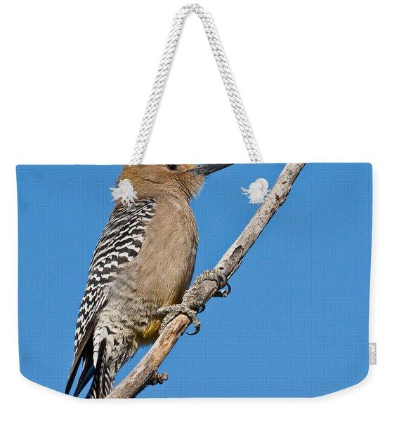 Male Gila Woodpecker Weekender Tote Bag