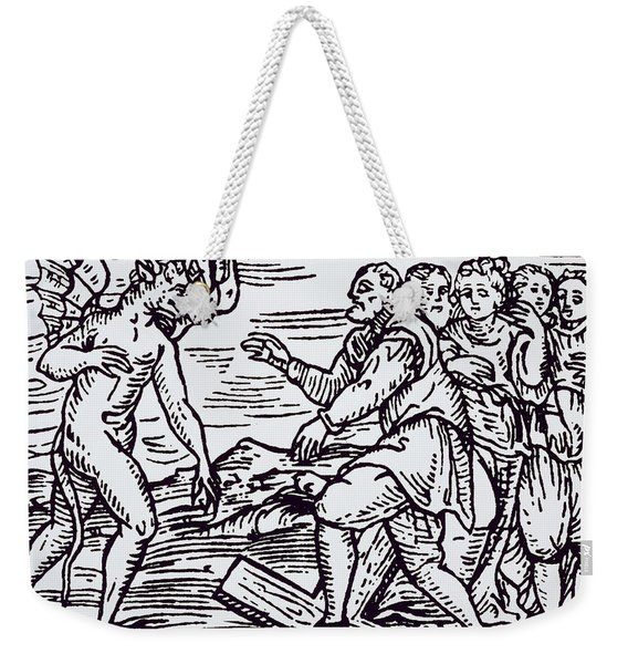 Male Witch Renouncing Christ Weekender Tote Bag