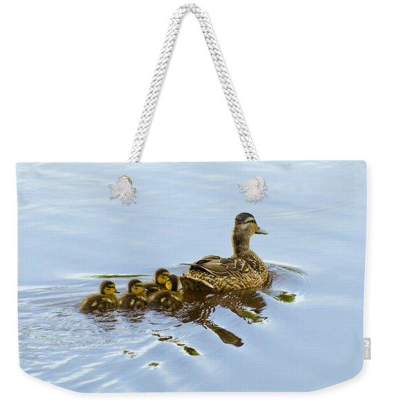 Mallard And Chicks  Weekender Tote Bag