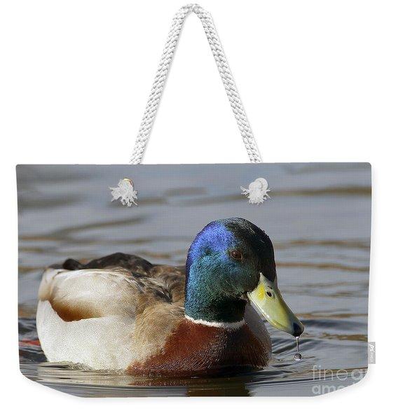 Mallard Drop Weekender Tote Bag