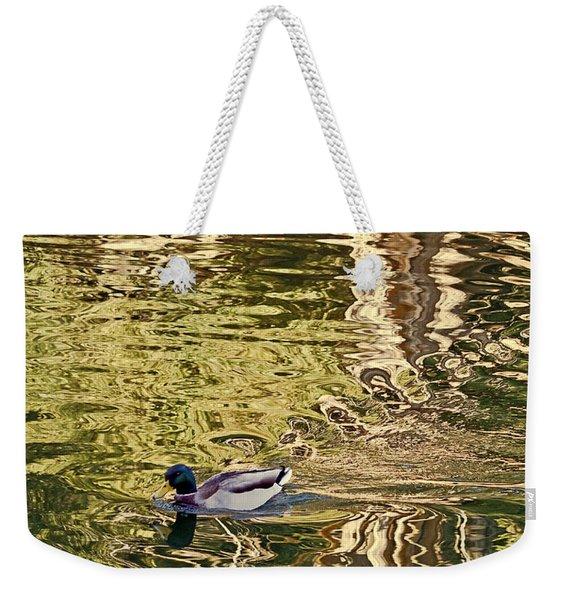 Mallard Painting Weekender Tote Bag