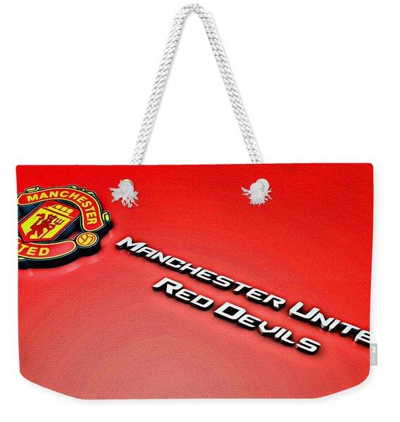 Man United Red Devils Poster Weekender Tote Bag