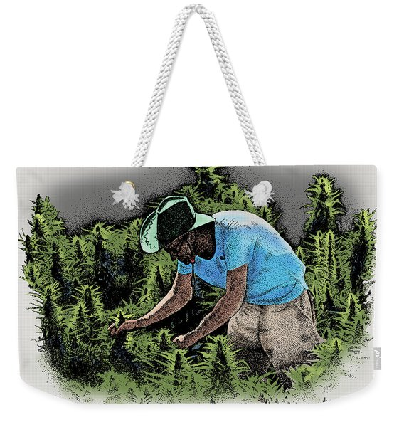 Man With A Green Hat Trans Weekender Tote Bag