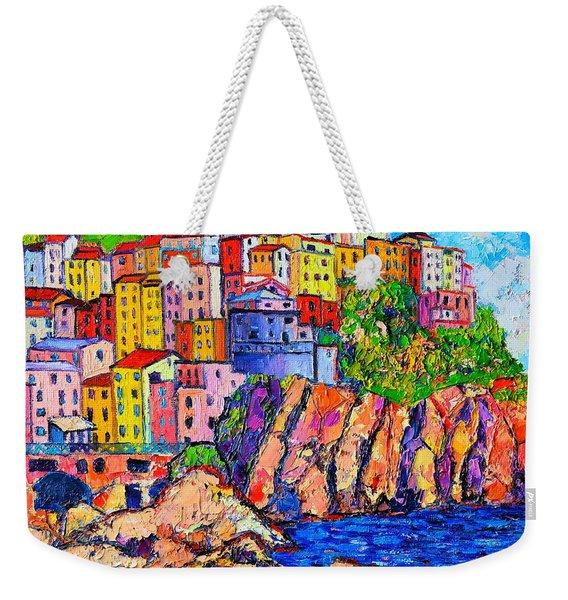 Manarola Cinque Terre Italy Detail Weekender Tote Bag