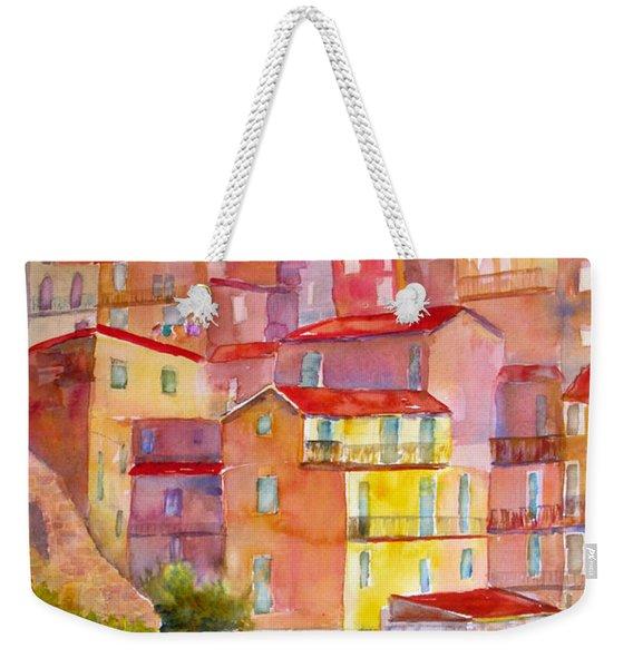 Manarola Italy Weekender Tote Bag