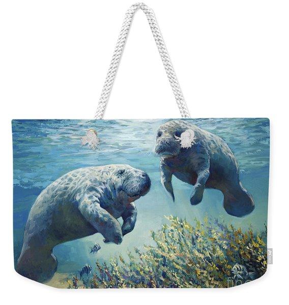 Manatee's Weekender Tote Bag