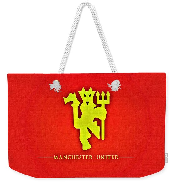 Manchester United Football Club Poster Weekender Tote Bag