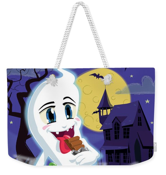 Manga Sweet Ghost At Halloween Weekender Tote Bag