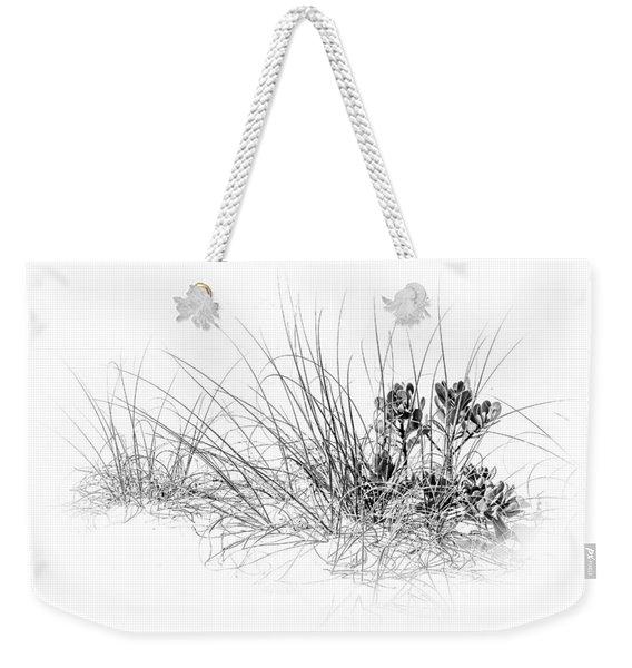 Mangrove And Sea Oats-bw Weekender Tote Bag