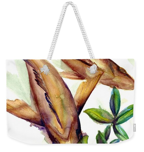Weekender Tote Bag featuring the painting Mangrove Snapper II by Ashley Kujan
