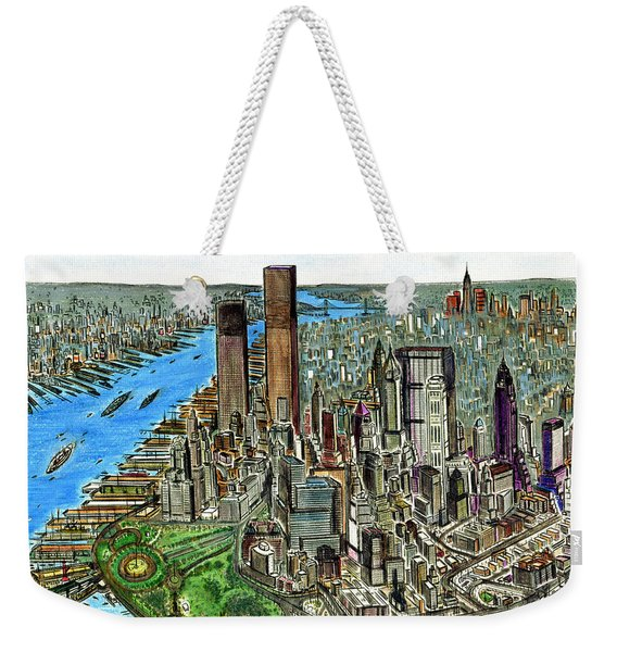 New York Downtown Manhattan 1972 Weekender Tote Bag