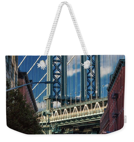 Manhattan Bridge Frames Empire State Weekender Tote Bag