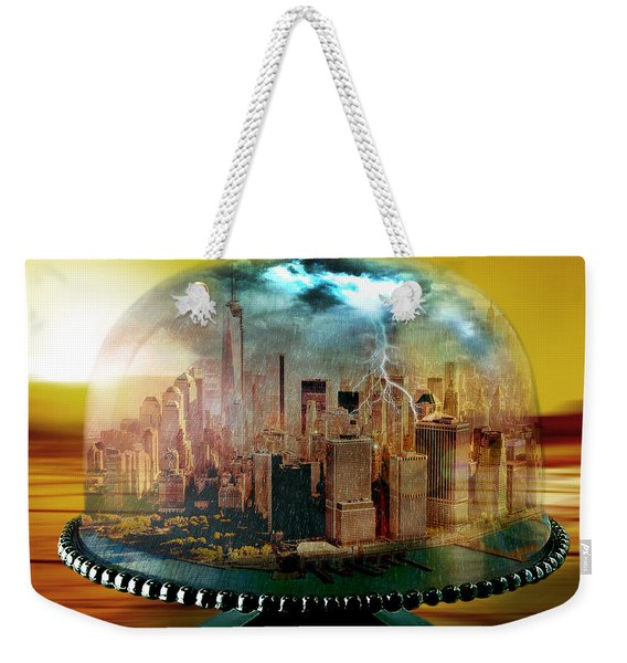 Manhattan Under The Dome Weekender Tote Bag
