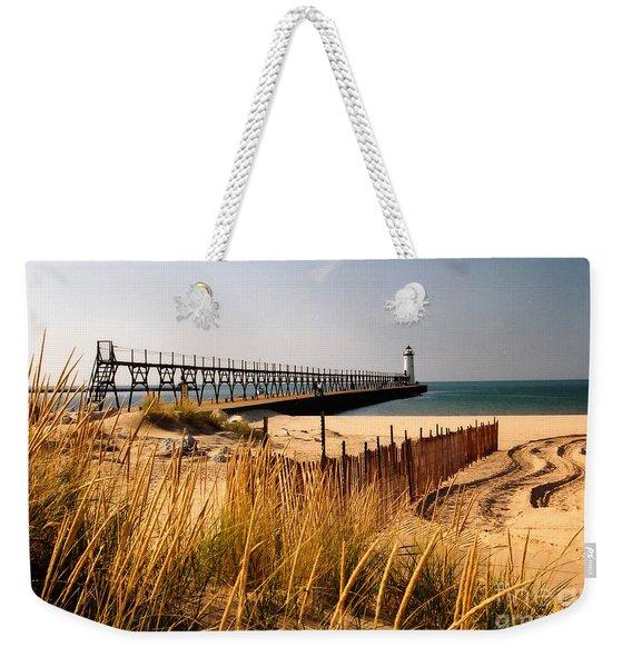Manistee Lighthouse Weekender Tote Bag