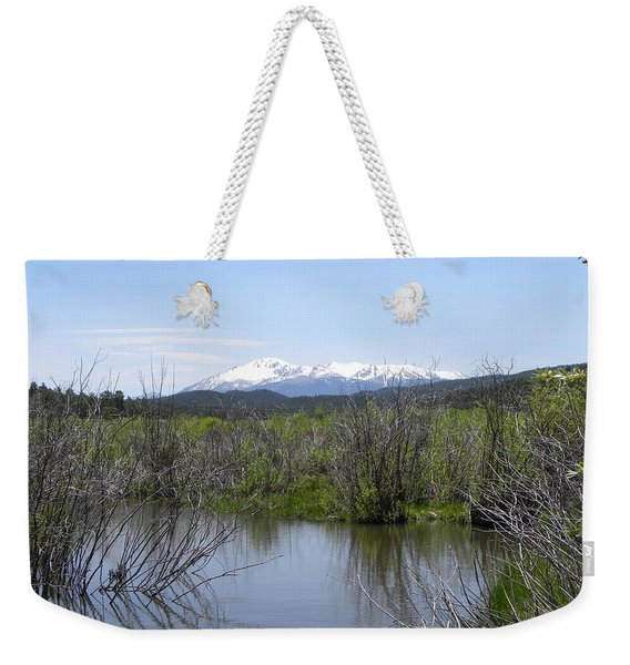 Weekender Tote Bag featuring the photograph Lake Manitou Sp Woodland Park Co by Margarethe Binkley