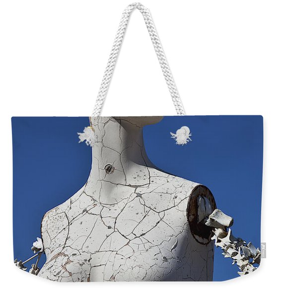 Mannequin Against Blue Sky Weekender Tote Bag