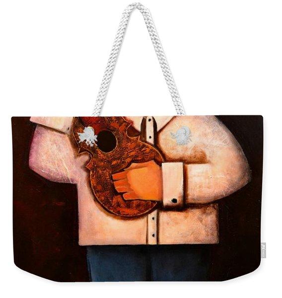 Weekender Tote Bag featuring the painting Manolito El Cuatrista 1942 by Oscar Ortiz