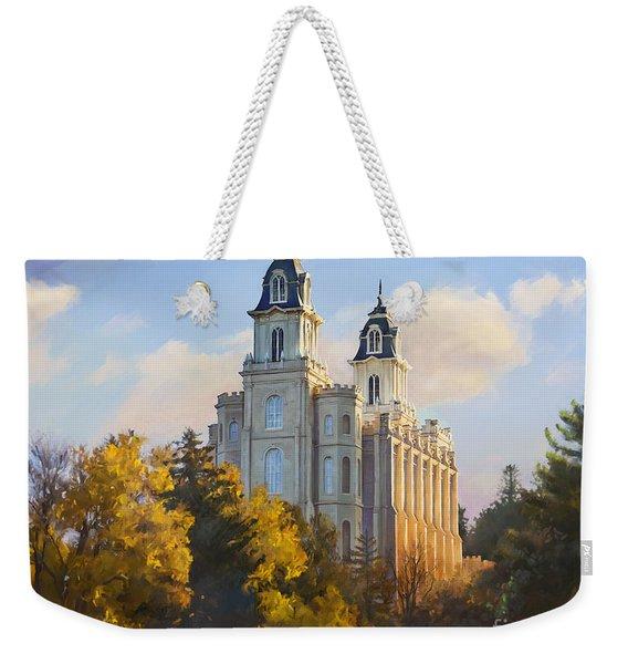 Manti Temple Weekender Tote Bag