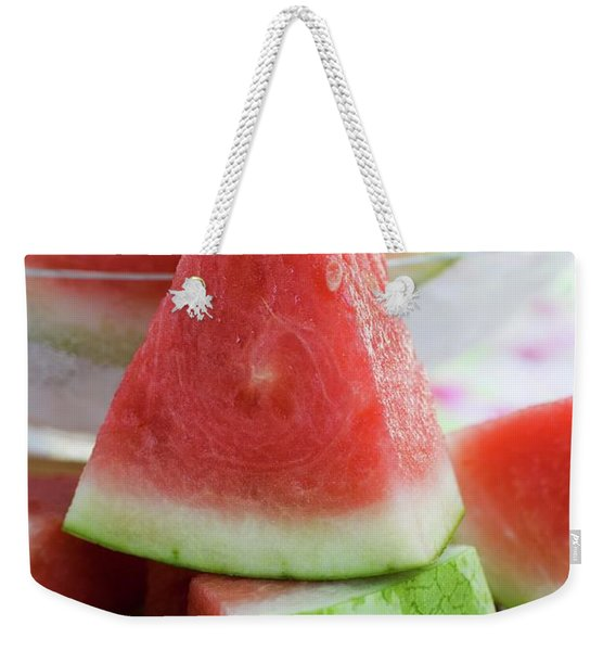 Many Pieces Of Watermelon Weekender Tote Bag