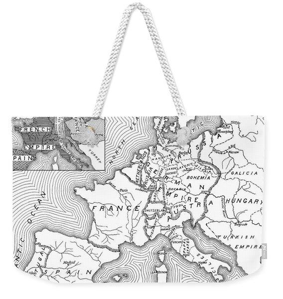 Map Of Europe, 1812-1815 Weekender Tote Bag