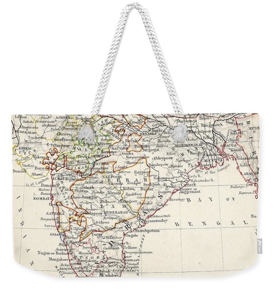 Map Of India Weekender Tote Bag