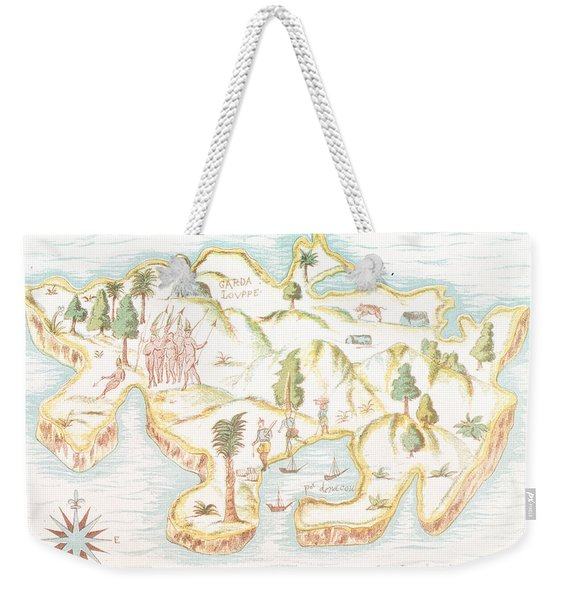 Map Of The Island Of Martinique Weekender Tote Bag
